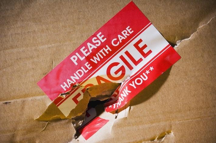 broken shipping box